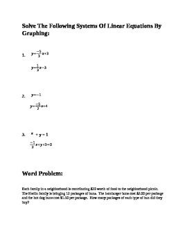 Solving Linear Systems Of Equations And Inequalities Station