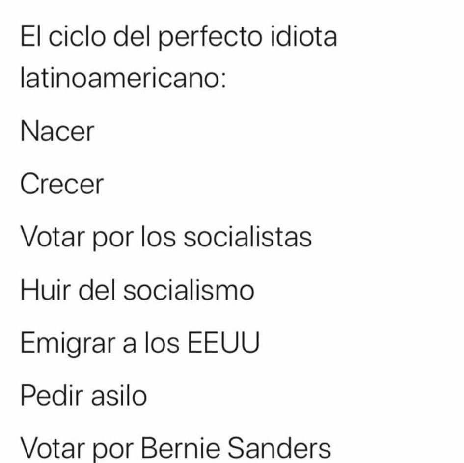 Pin De Guzz Guzz En Memes Inapropiados O Polemicos Emigrar Bernie Sanders Socialismo
