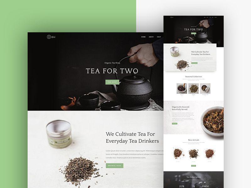 Tea Shop Website Template Design For Divi Website Template Design Tea Website Website Template