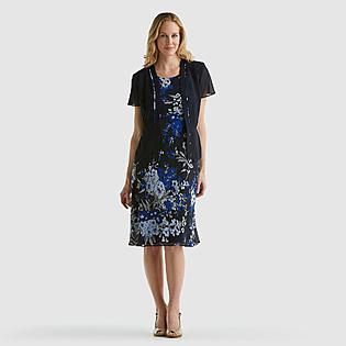 Studio 1- -Women's Jacket Dress - Floral