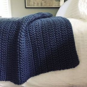 The Boulevard Blanket - Free Chunky Knitting Pattern by Fifty Four Ten Studio. The pattern has been updated to include instructions for SIX sizes: Baby/Infant, Small/Crib/Lap, Medium Throw, Large Throw, XL Afghan, XXL Afghan. This blanket is quick & easy to knit with super bulky yarn.