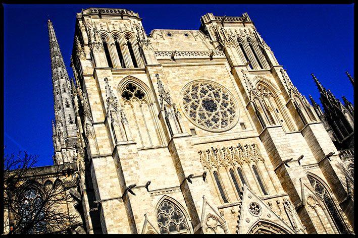 Cathédrale Saint André, place Pey Berland, Bordeaux ...