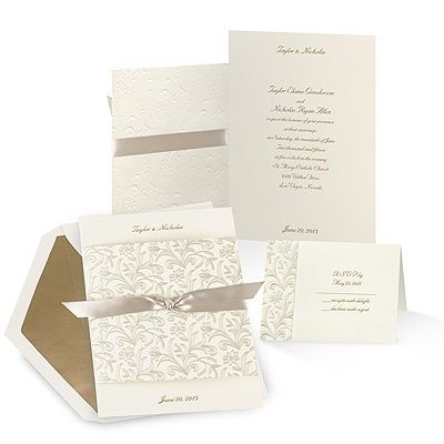 Shimmering Floral Wedding Invitation Wedding Wedding Invitations