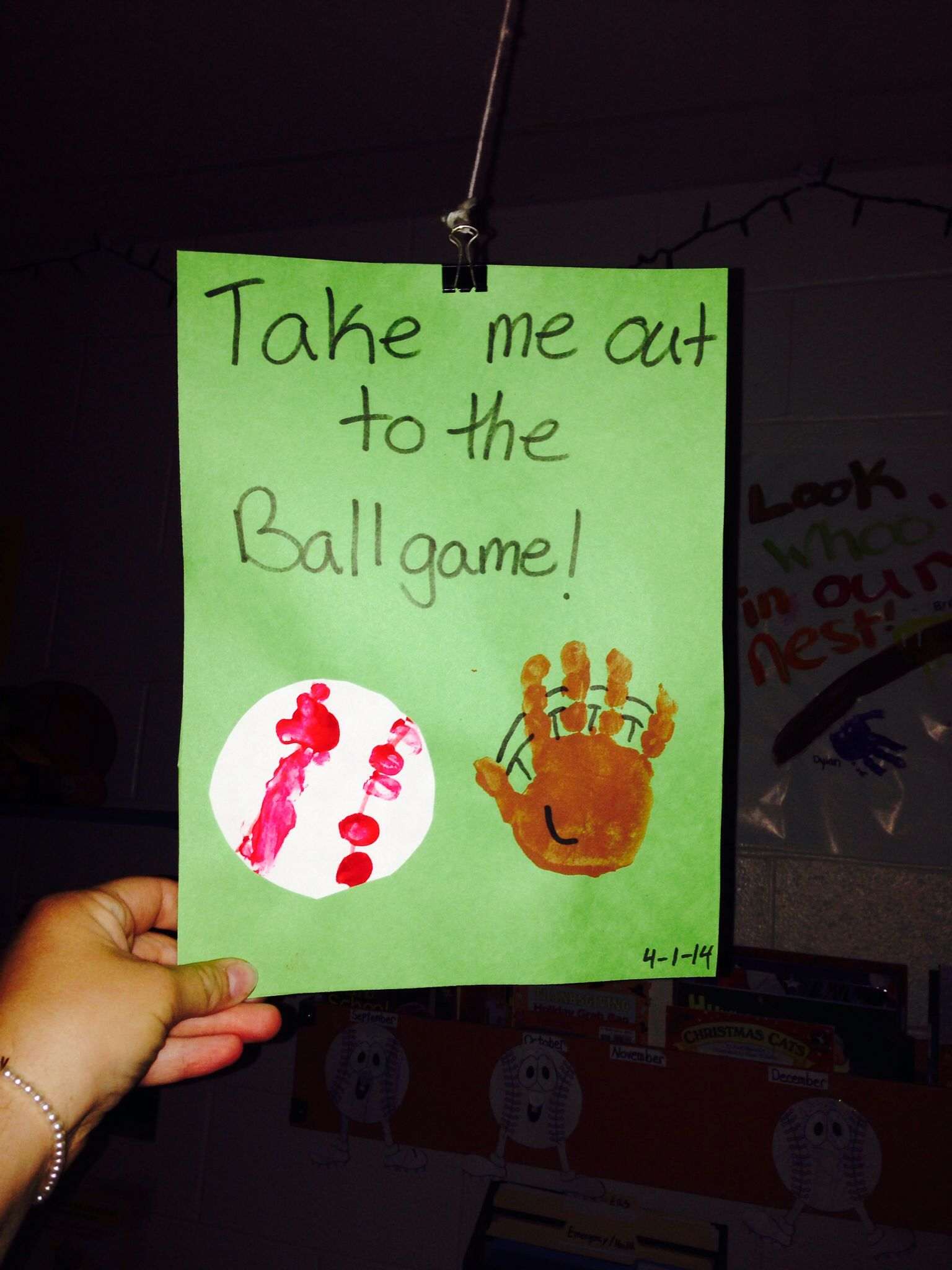 Take Me Out To The Ball Game Cute Easy Baseball Themed