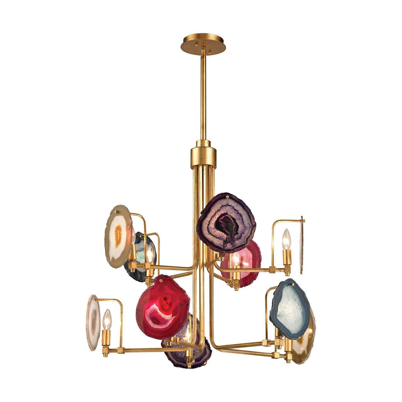 Gallery 10 light chandelier in antique gold leaf 1141 008 products dimond home gallery ten light chandelier chandelier lighting contemporary lights arubaitofo Choice Image