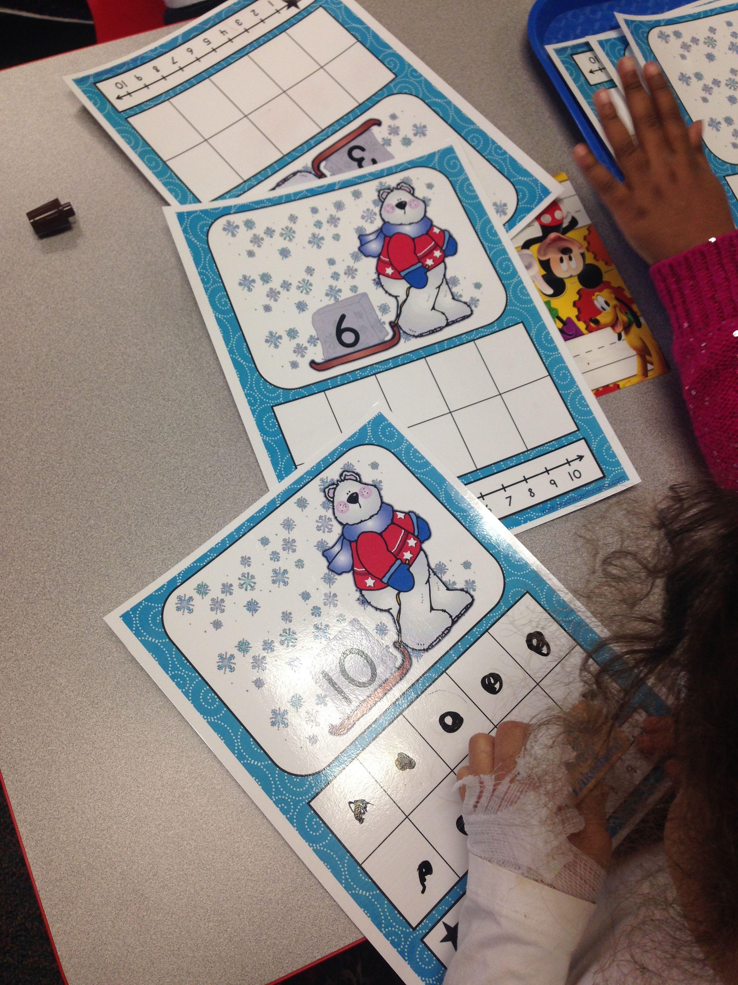 Polar Bear Ten Frames 1 10 Math Center Activities