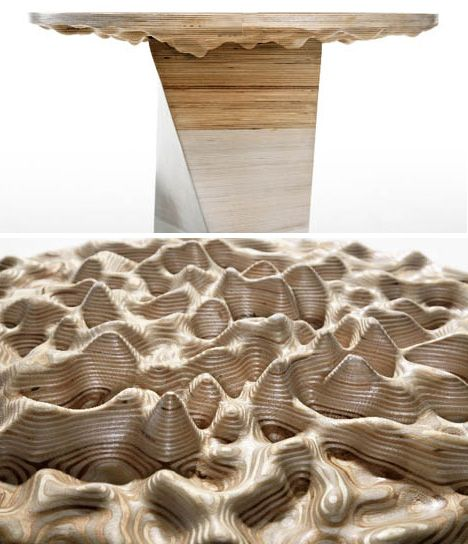 Diy Work Of Cnc Art 3d Topographic Wood Table Project Cnc Art Cnc Furniture Cnc Projects