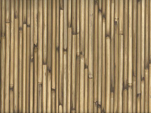 Wallpaper Designer Kathy Ireland Faux Bamboo Smooth Finish
