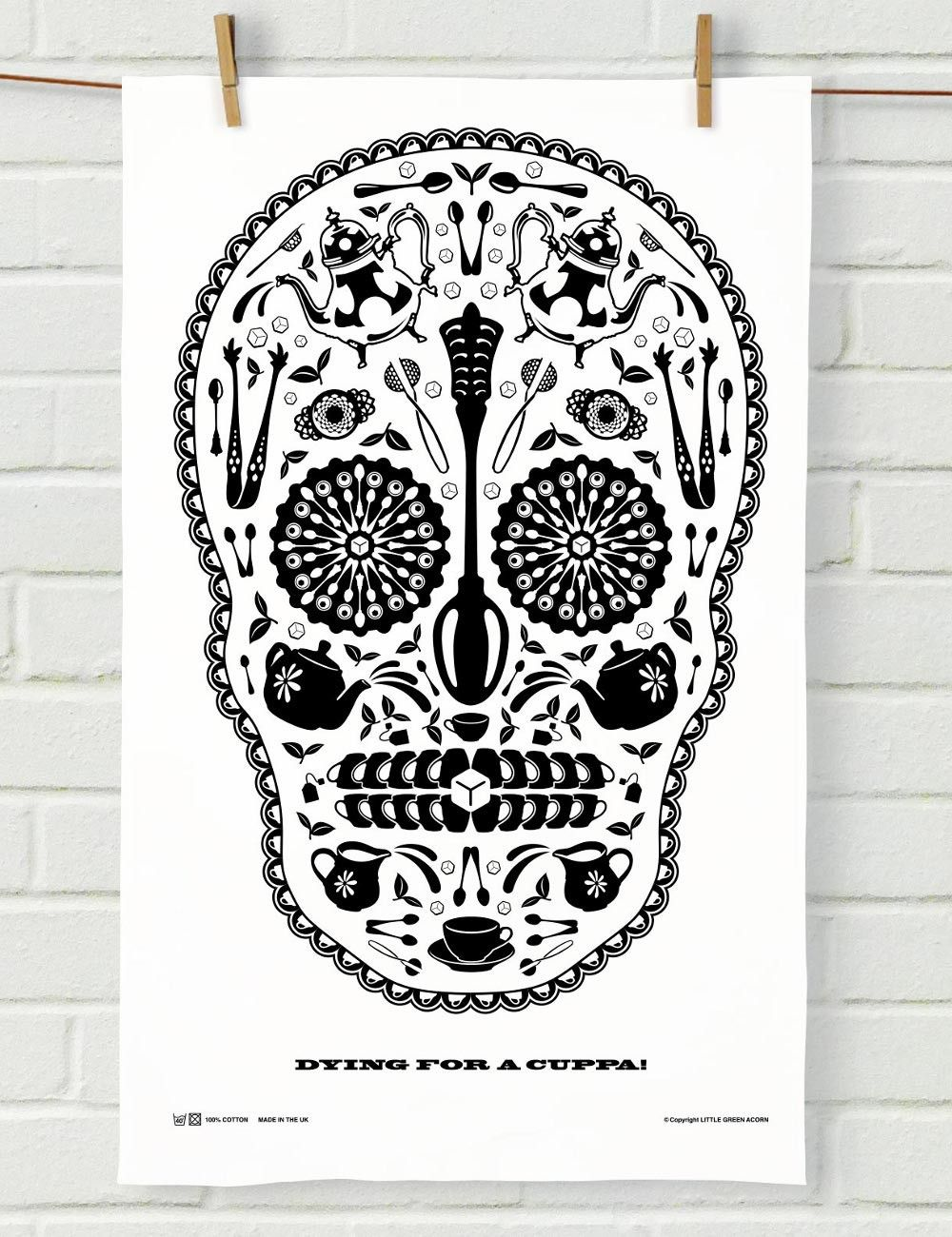 Sugar Skull Tea Towel in White | Design | Pinterest | Towels and ...