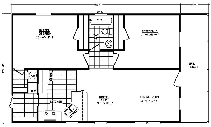 50 2 Bedroom Double Wide Floor Plans Pj1q Modular Home Floor Plans House Floor Plans Mobile Home Floor Plans