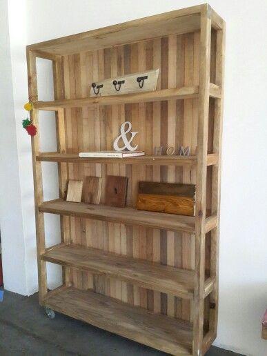 Mueble organizador medidas x x bibliotecas by antigua madera pinterest - Muebles de madera a medida ...