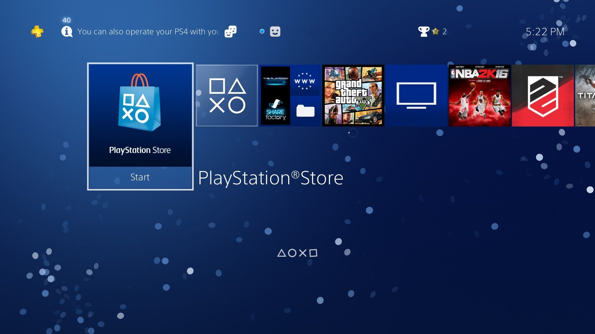 Image] Sony has added the PS3's default interactive particle theme
