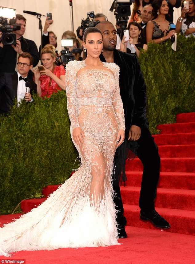 Kim Kardashian wears her most daring dress yet to the Met Gala ...