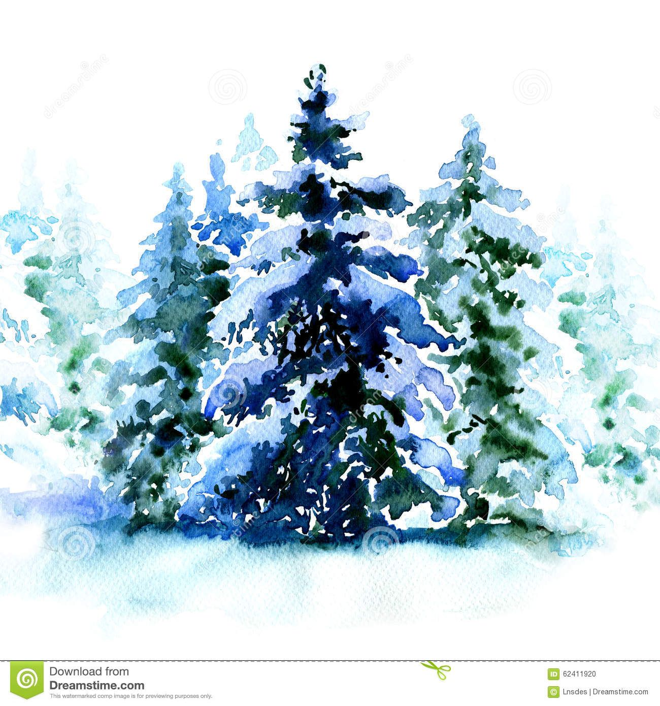 group of christmas trees covered snow in winter isolated - Snow Covered Christmas Trees