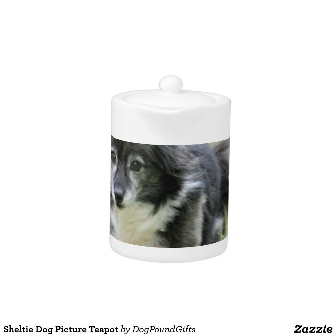 Sheltie Dog Picture Teapot