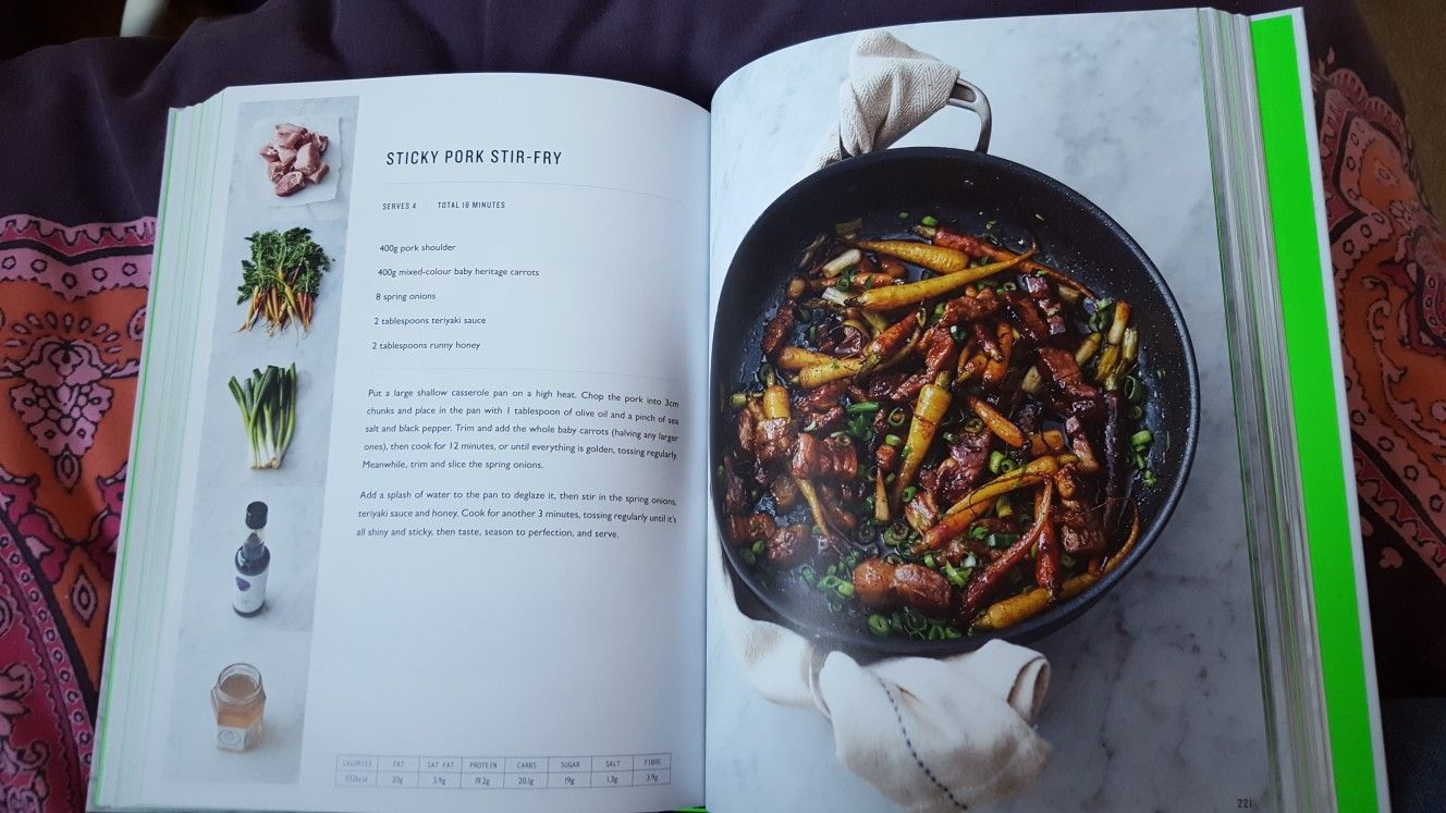 Sticky Pork Stir Fry Jamie Oliver S 5 Ingredient Meals Pork Stir Fry Sticky Pork Jamie Oliver Recipes