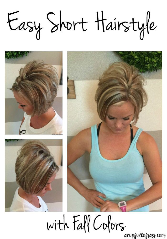 Easy Short Hairstyle With Fall Colors Easy Short Hairstyles Short
