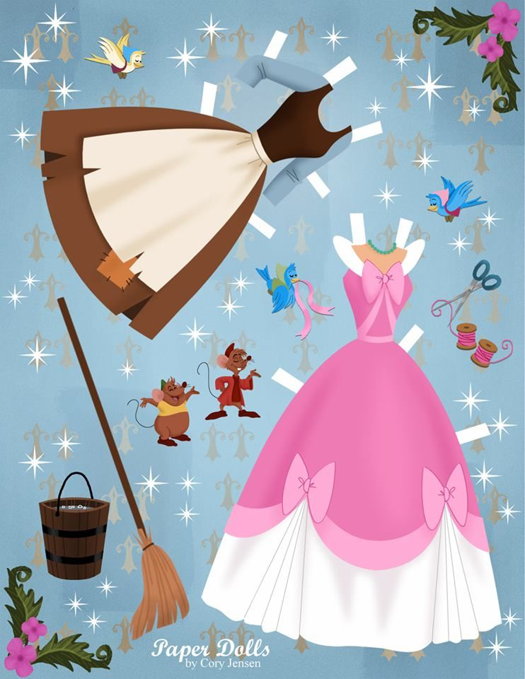 cinderella | paper dolls by cory* 1500 free paper dolls The International Paper Doll Society Arielle Gabriel artist ArtrA Linked In QuanYin5 *