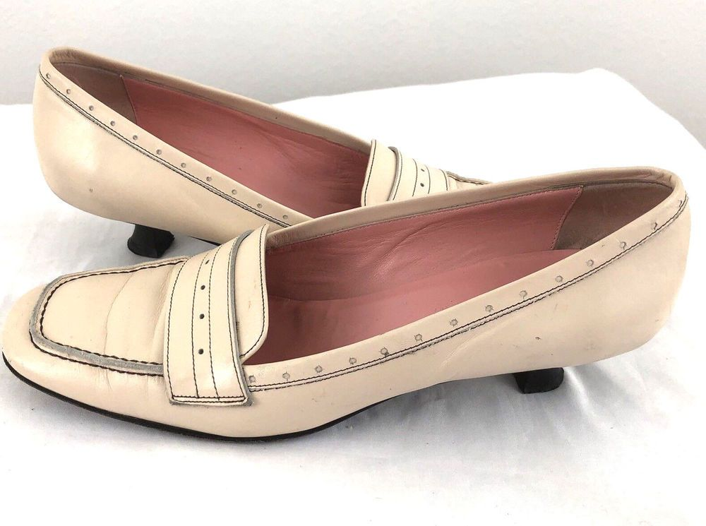 9cde3c33a28 COLE HAAN City Low Kitten Heel Pumps Leather Pink Blush Made In ITALY 7.5B   ColeHaan  KittenHeels  Casual