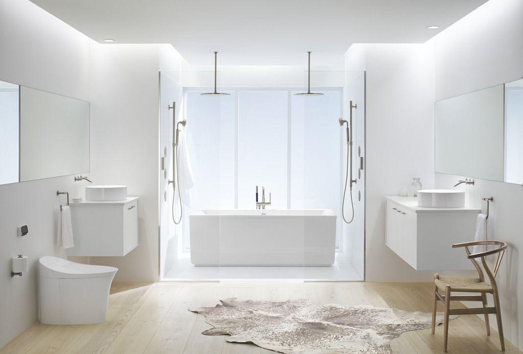 Pure White Bathroom Kohler Ideas White Bathroom Bathroom Trends Bathroom Design