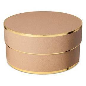 Sugar Paper Brown Kraft Round Gift Box Target Christmas