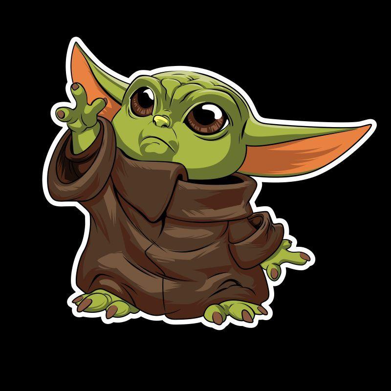 Baby Yoda Vector T Shirt Design In 2021 Yoda Art Star Wars Art Yoda Drawing