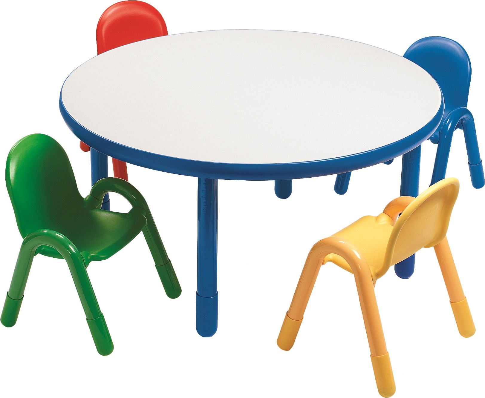 Baseline Preschool Kids 5 Piece Writing Table And Chair Set
