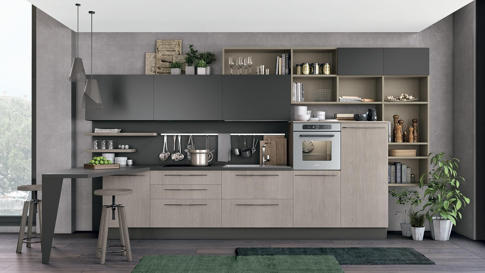 Clover - Cucine Lube | Idee casa | Pinterest | Living room kitchen ...