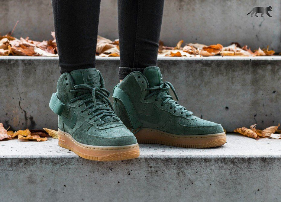 newest 4144b 15557 Nike Wmns Air Force 1 Hi SE (Vintage Green  Vintage Green)