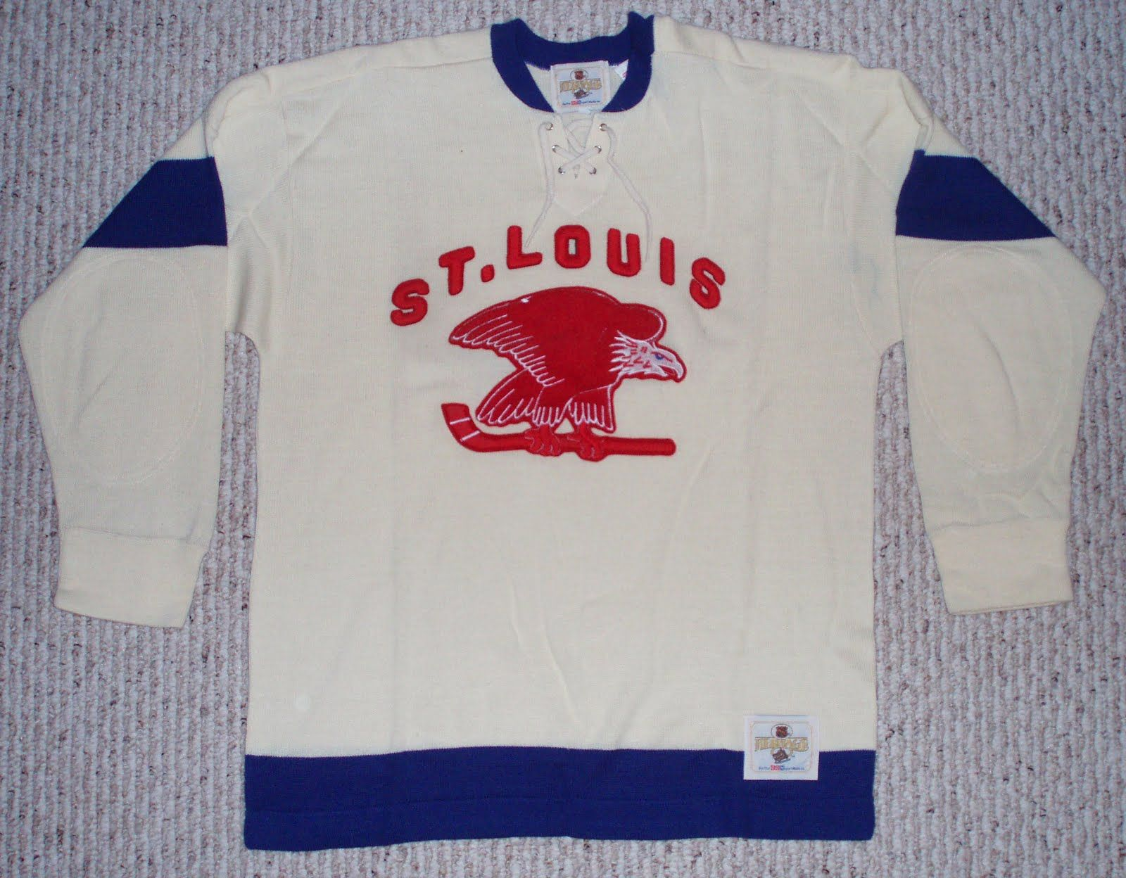 Formerly the Ottawa Senators the franchise moved south   west and became  the St. Louis Eagles for 1934 1935. eb11999f7dc7