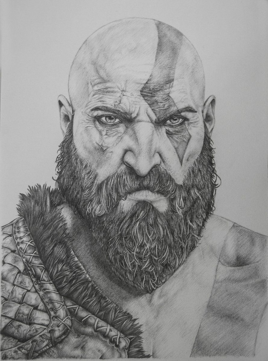 28 collection of kratos drawing 2018