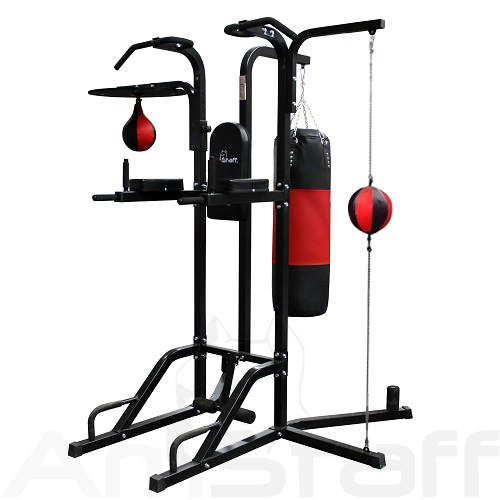 AmStaff TR055B 12-in-1 Boxing Station W/ Double-End Bag