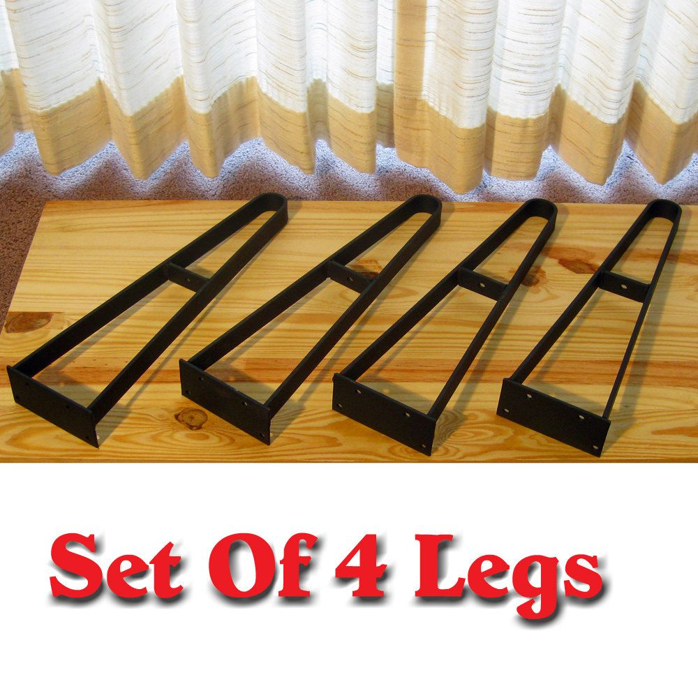 Rustic Flat Iron Hairpin Legs 15 75 High Coffee Table Tv Stand Bench End Unfinished Set Of 4