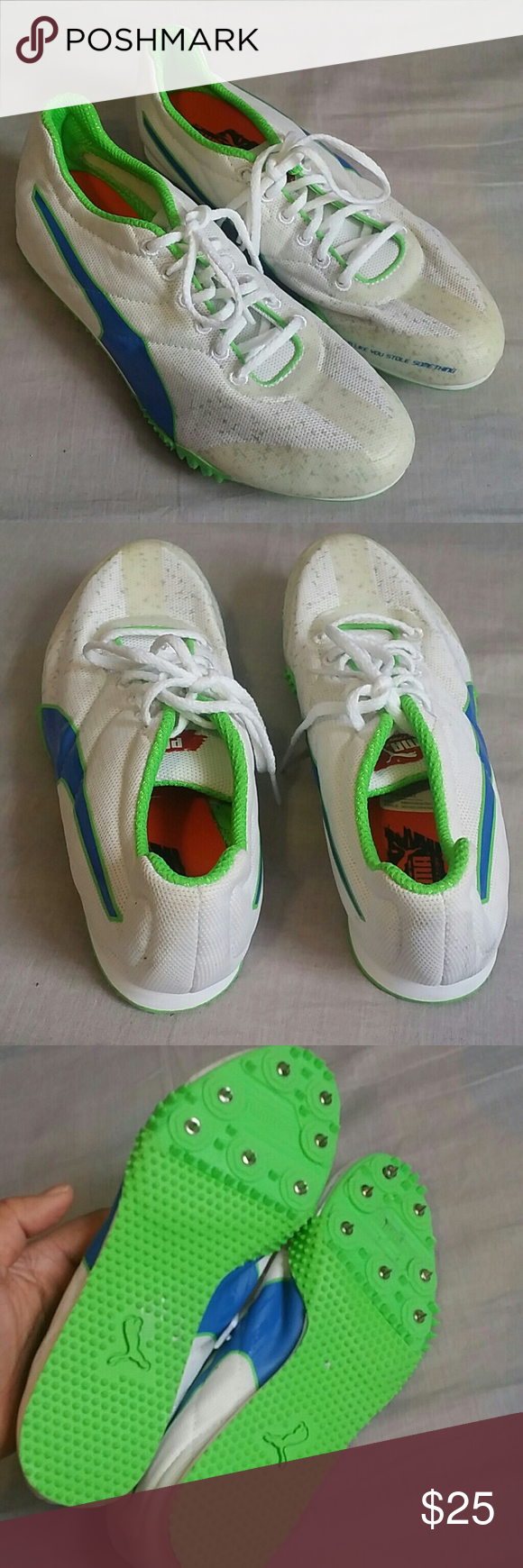 f2629f00c6fc12 Puma Spike Shoes Running 5 M Lace-ups Item NEVER BEEN Used