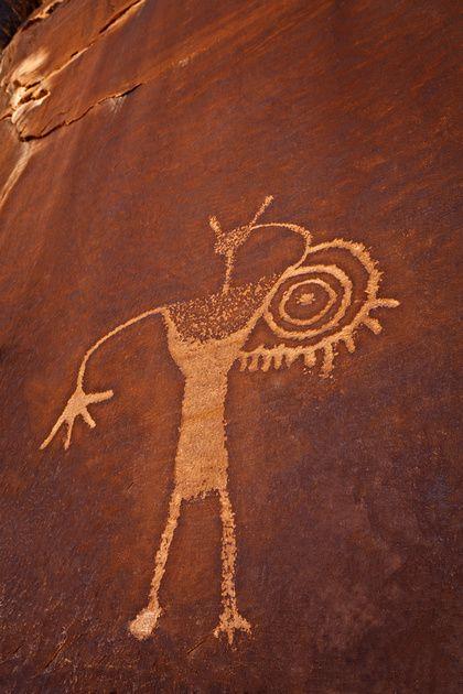 Spiral Arm Anasazi pertoglyph | Stories in Stone ... | 420 x 630 jpeg 46kB
