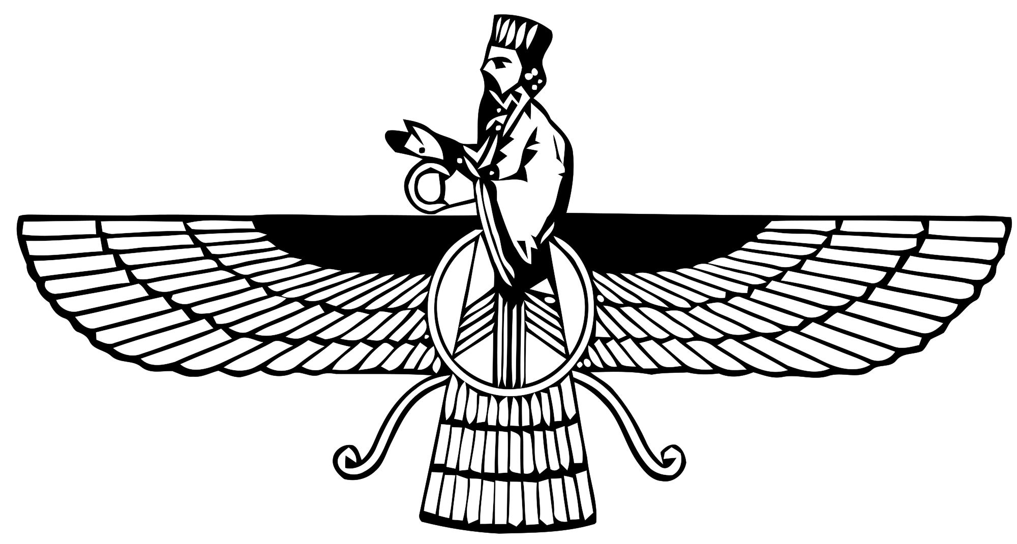 Faravahar (or Ferohar), one of the primary symbols of
