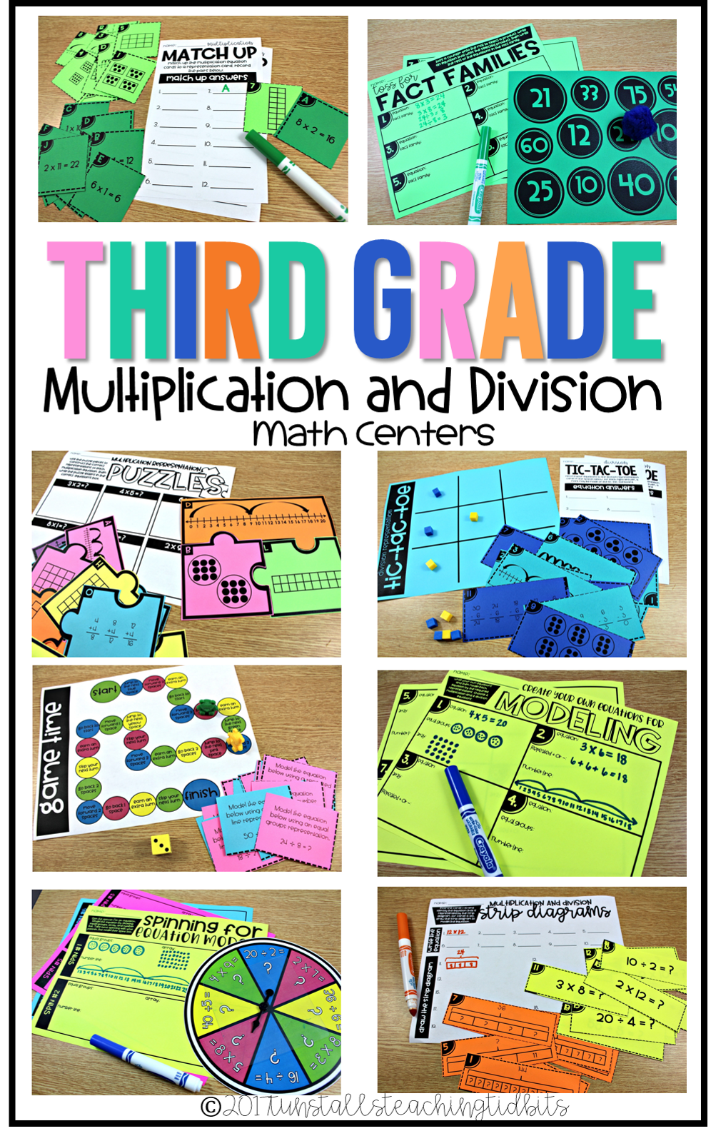 third grade math centers multiplication and division concepts and models all things upper. Black Bedroom Furniture Sets. Home Design Ideas