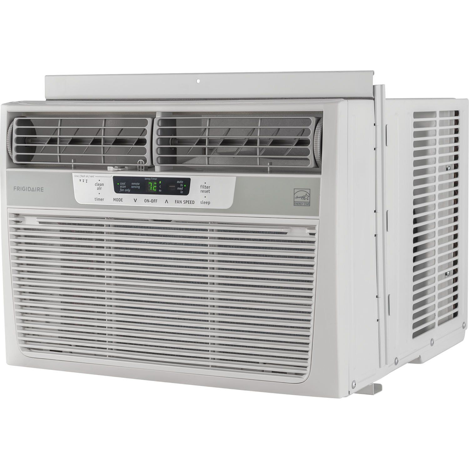 Frigidaire 12000 Btu 115v Windowmounted Compact Air Conditioner With Temperature Sen Best Window Air Conditioner Compact Air Conditioner Window Air Conditioner
