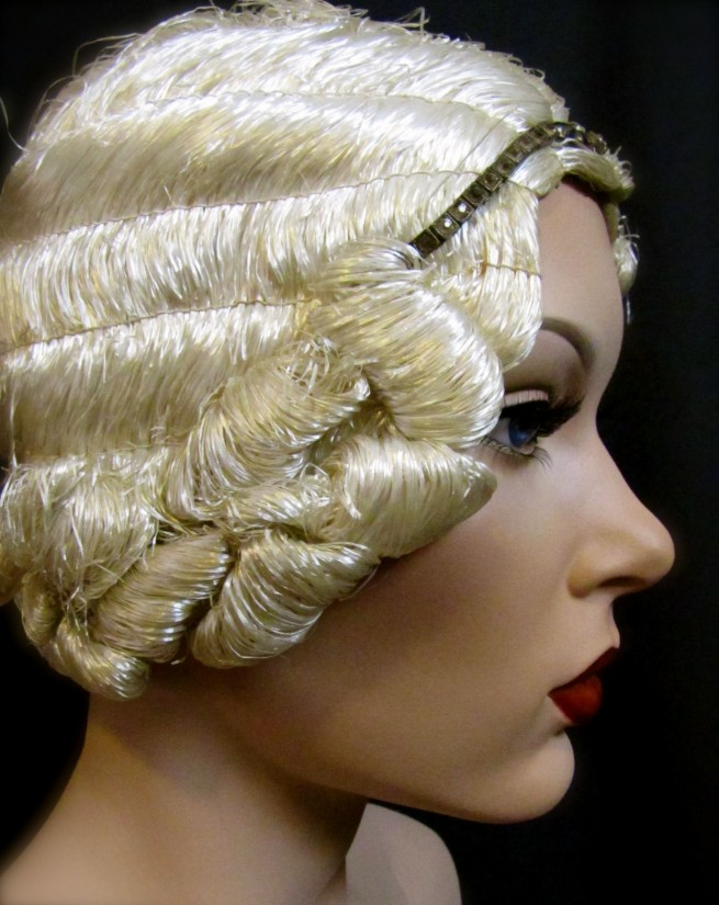 Time become Blonde flapper wig something