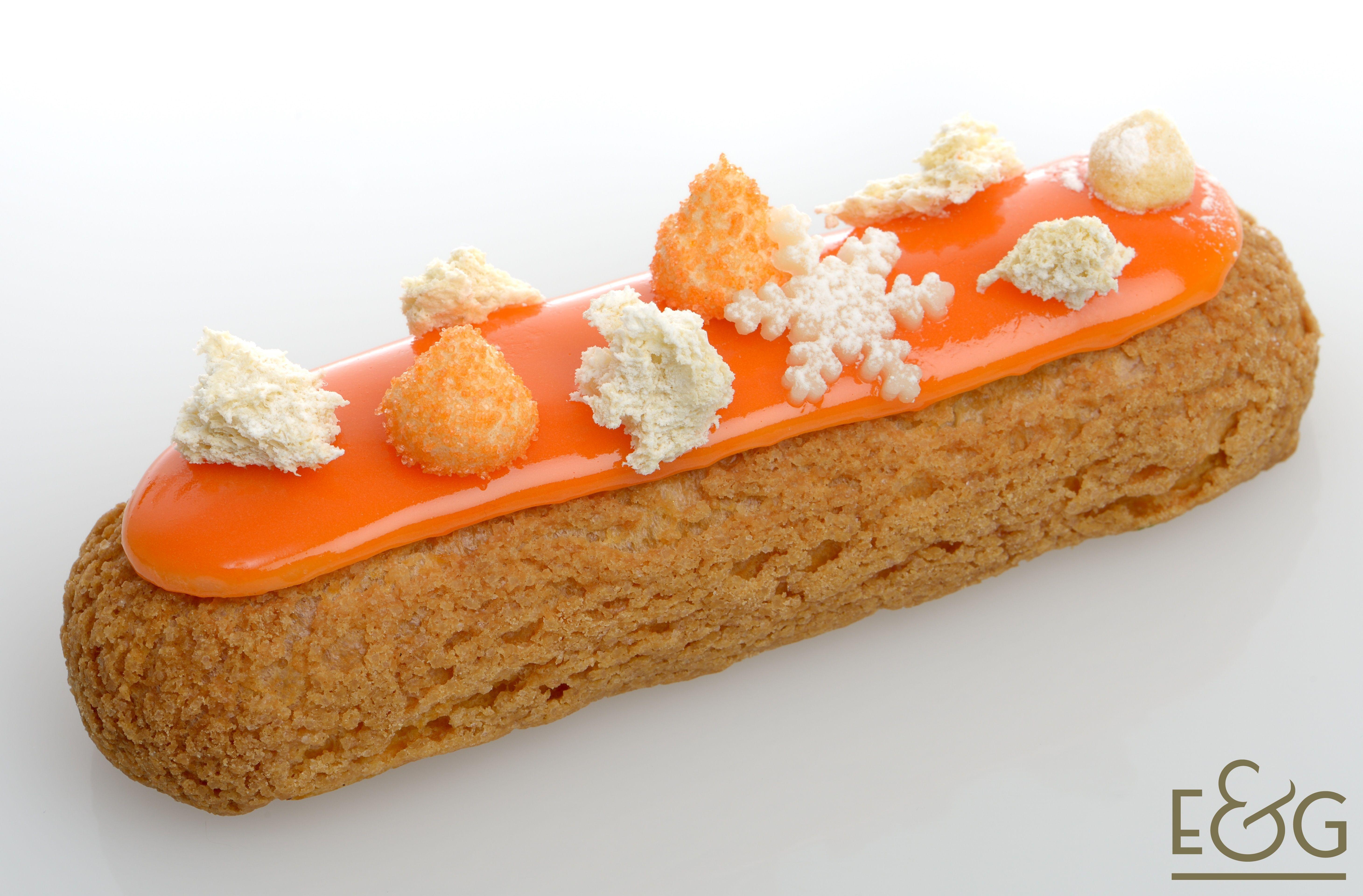 L 39 etoile des neiges by david g bert chef p tissier eclairs gourmandises chocolat caramel - Decoration gateau suisse ...