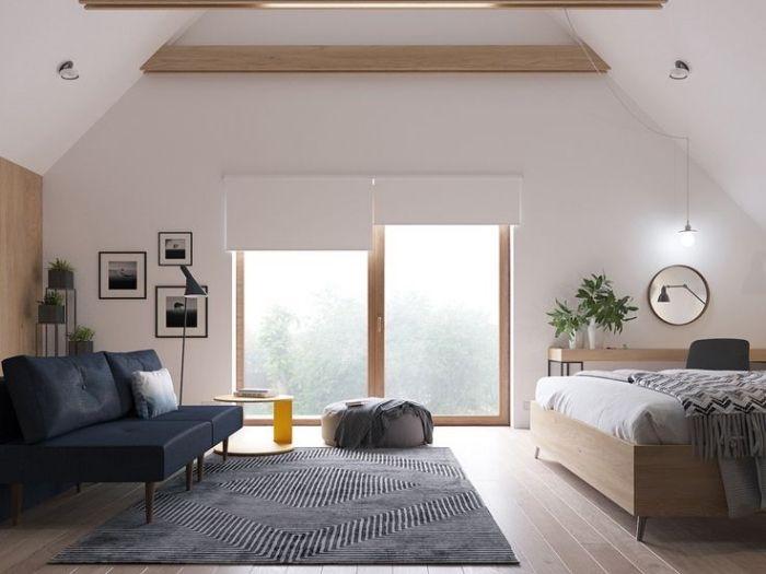 1001 exemples parfaits d 39 une chambre sous combles d co - Idee peinture chambre mansardee ...