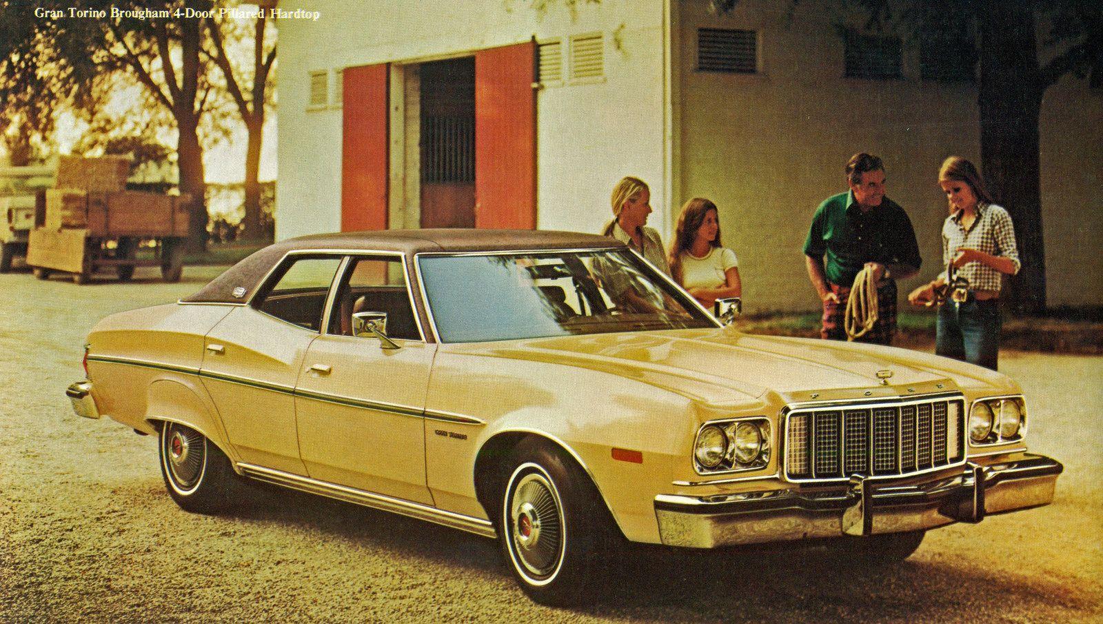 1976 Ford Gran Torino Brougham 4 Door Pillard Hardtop Cars Usa Ford Torino Ford