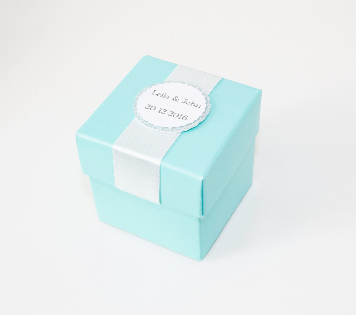 Turquoise Blue Favor Boxes, Teal Blue Boxes, Wedding Party Favor ...