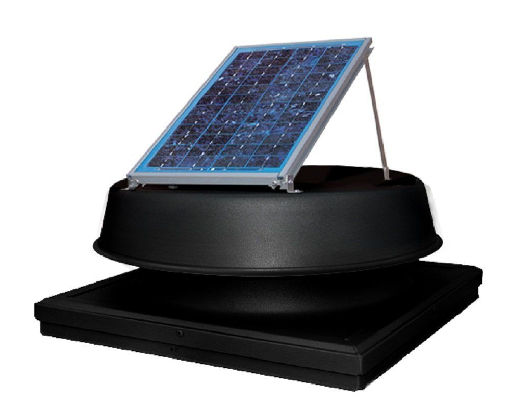 Natural Light 12 Watt Solar Powered Roof Vent Curb Mount Black You Can Find More Details By Visiting The I Solar Powered Roof Vent Roof Vents Mount Black