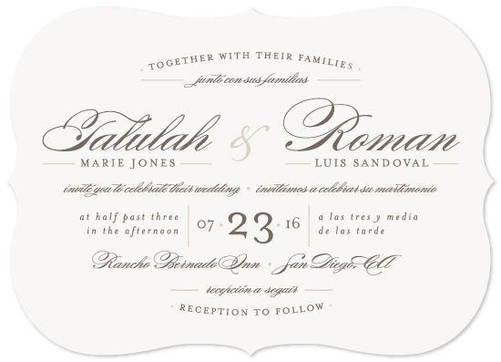 Bilingual Wedding Invitation An Elegant And Timeless Wedding Invitation Featu Bilingual Wedding Invitations Bilingual Wedding Customizable Wedding Invitations