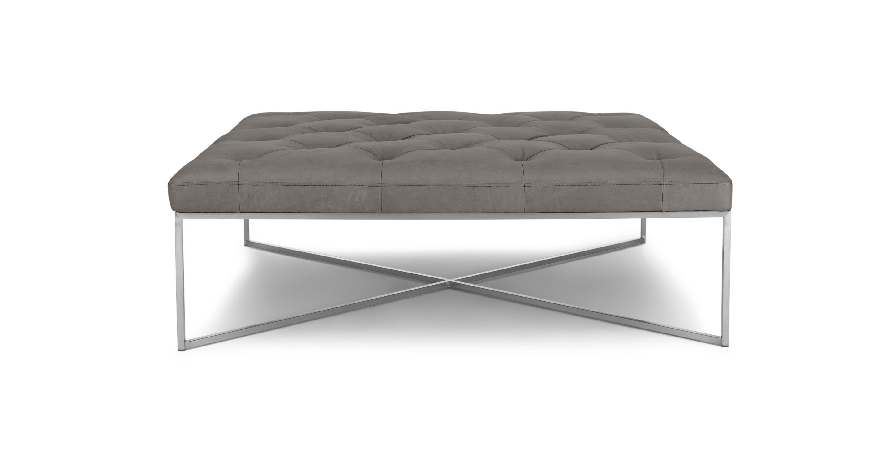 Tablet Lichen Gray Square Ottoman Ottomans Article Modern Mid Century And Scandinavian Furniture Leather Ottoman Coffee Table Leather Ottoman Ottoman [ 1500 x 2890 Pixel ]