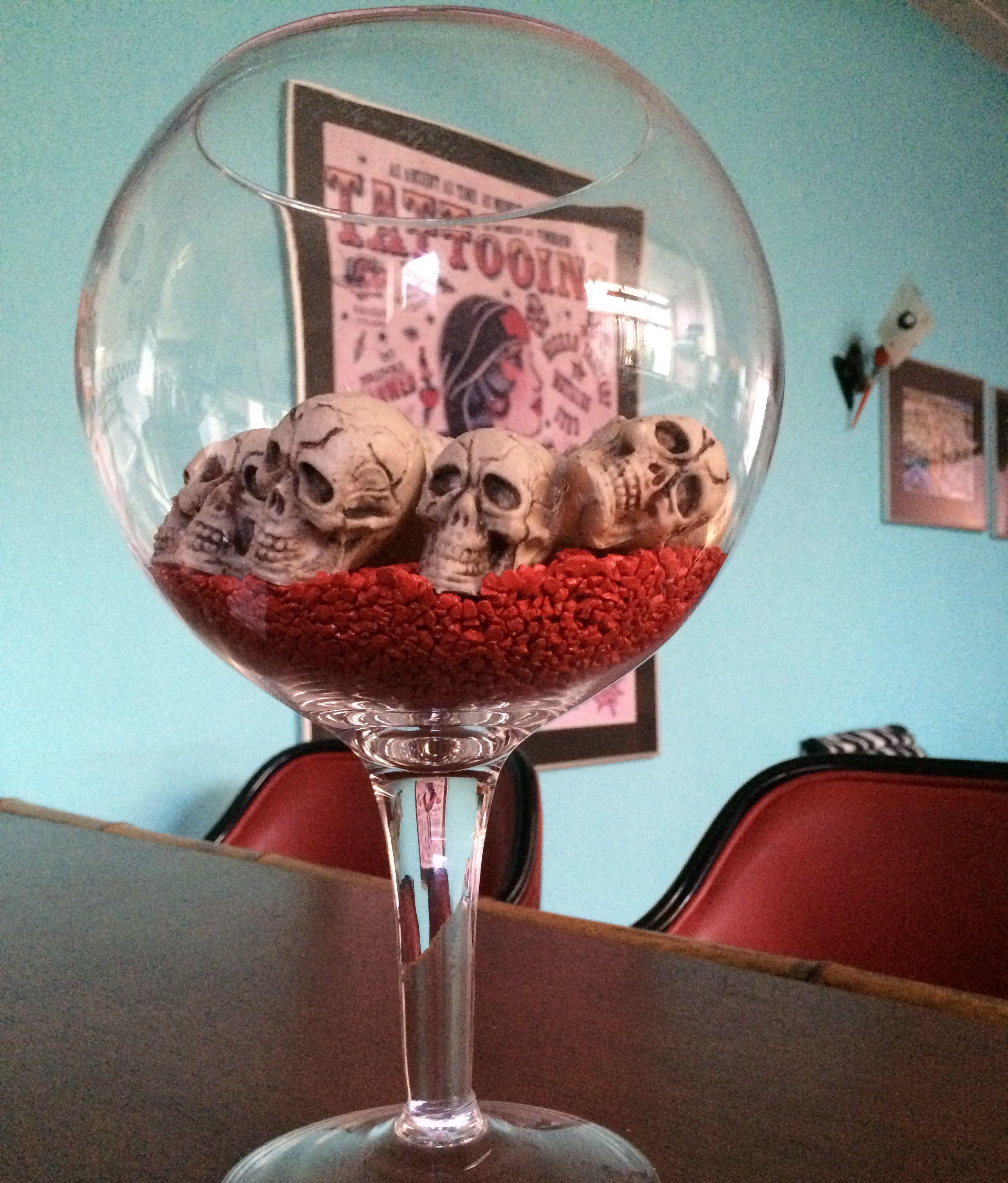 Skulls Everydayhalloween Horror Skullglass Skullinterior Dead Creative Glass Margarita Glass Glassware