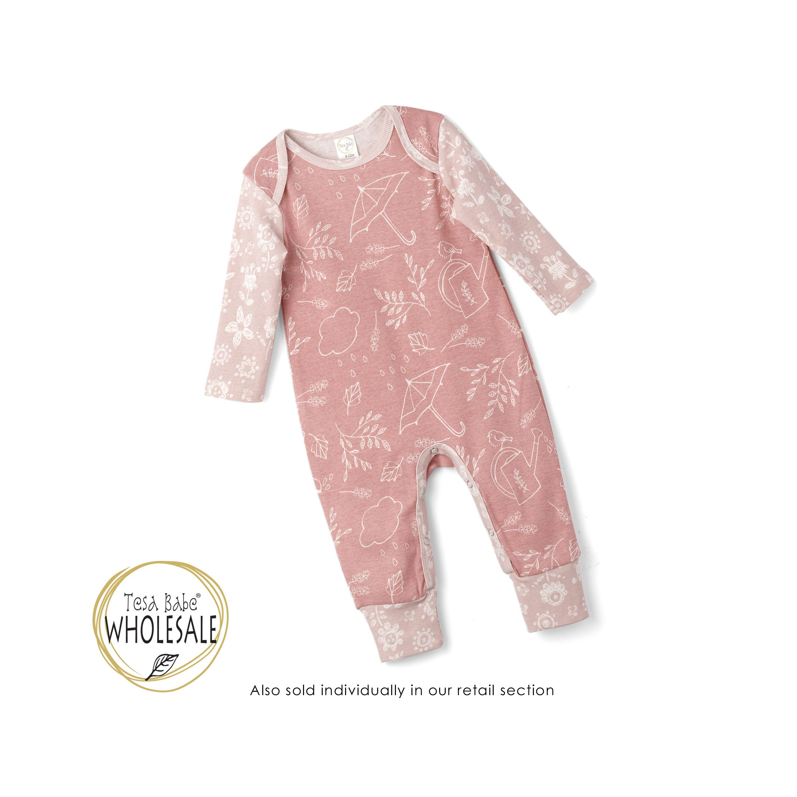 90e38c228f7 WHOLESALE Baby Pink Onesie Outfit
