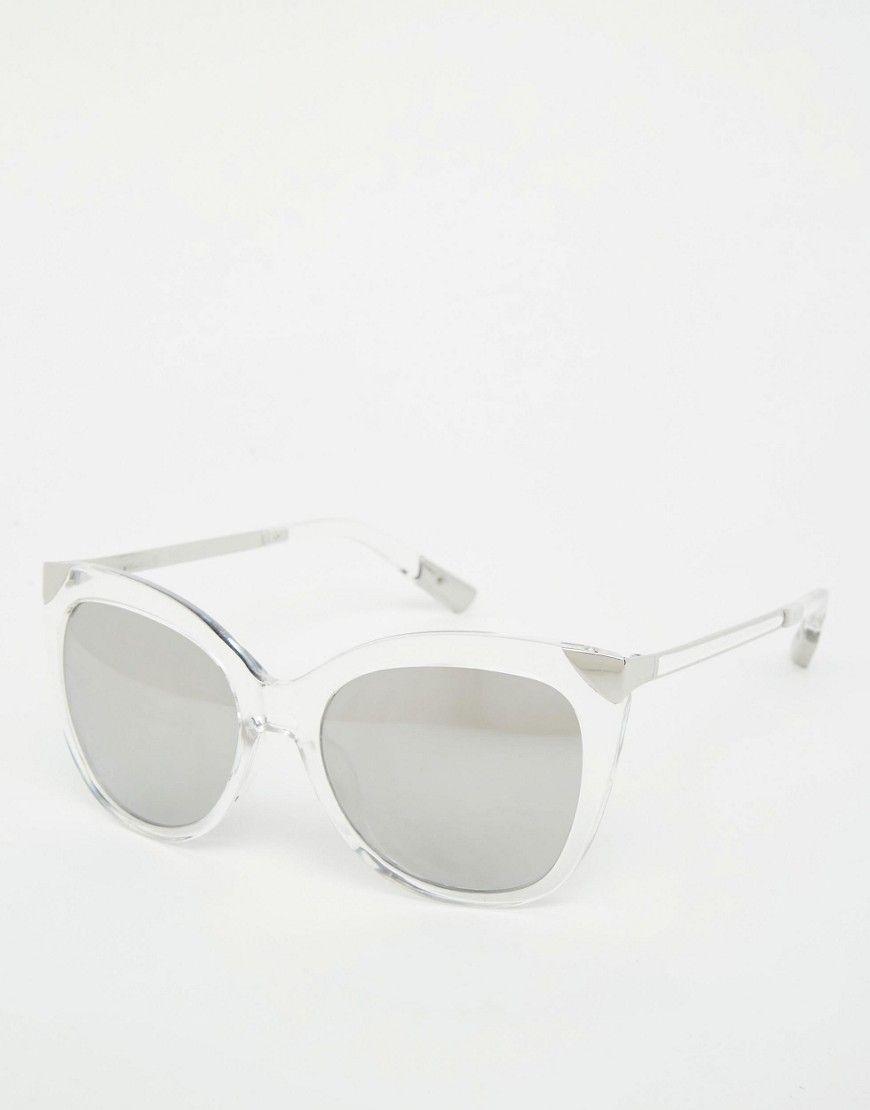 b2a0cbf340d3 Image 1 of River Island Perspex Cat Eye Sunglasses