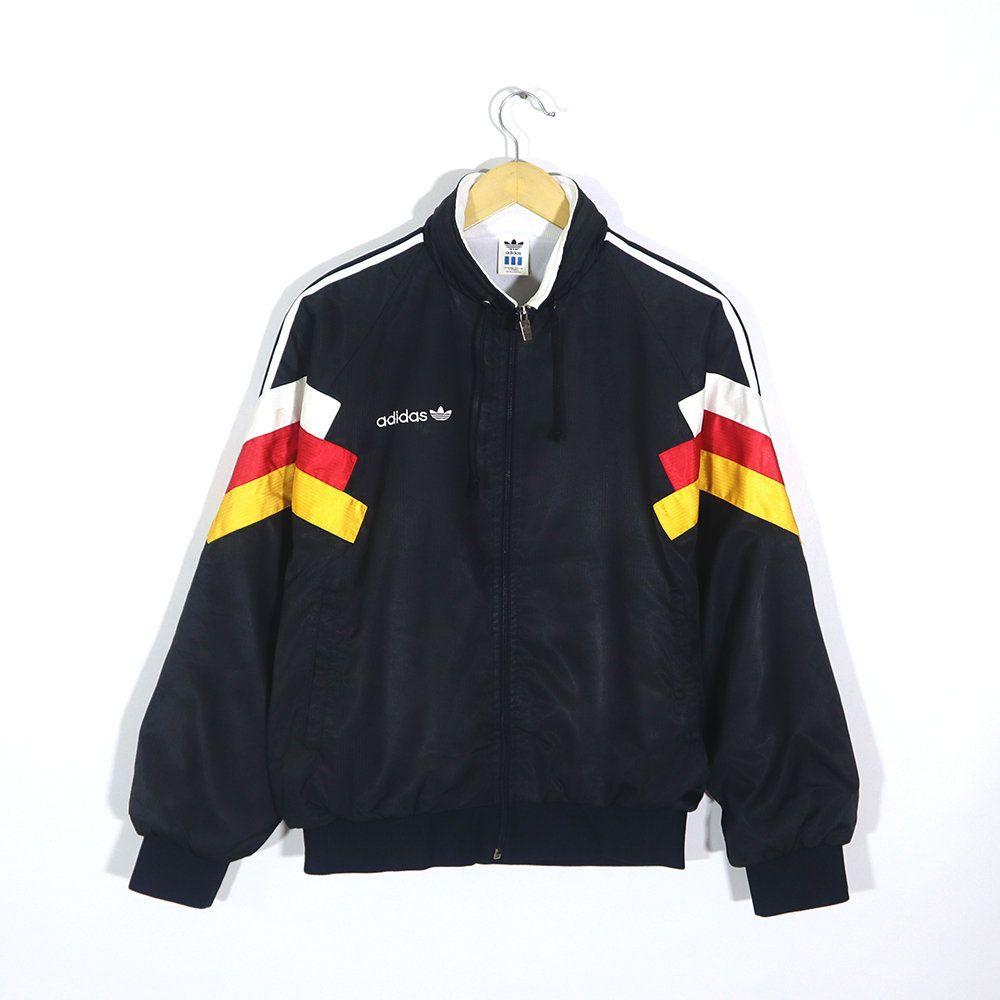Rare Vintage 80s 90s Adidas Germany Flag Multi Color Black White Red Yellow Colorway Track Jacket Adid Pullover Sweatshirts Sweatshirt Shirt Long Sleeve Shirts [ 1000 x 1000 Pixel ]
